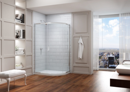 MERLYN MS83FR1D Series 8 - Framed 1 Door Offset Quadrant without Shower Tray
