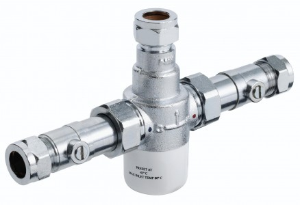 BRISTAN 15mm Thermostatic Mixing Valve with Isolation
