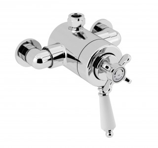 BRISTAN 1901 Exposed Concentric Chrome Top Outlet Shower Valve Only