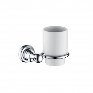 BRISTAN 1901 Tumbler and Holder Brass Chrome Plated