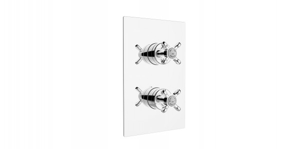 BRISTAN 1901 Recessed Thermostatic Dual Control Shower Valve with Integral Two Outlet Diverter Chrome