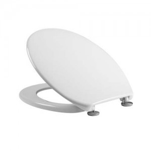 Tavistock Aspire - WC Seat with chrome hinges - Gloss White [O801A]