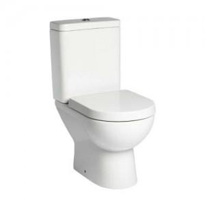 Tavistock Micra Soft Close WC Seat with chrome fittings - White [TS100WSC]