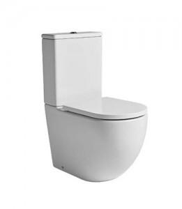 Tavistock Orbit Soft Close WC Seat with chrome fittings - White [TS250S]