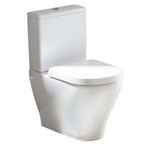 Tavistock Agenda Soft Close WC Seat with chrome fittings - White [TS150S]