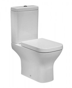 Tavistock Structure Soft Close WC Seat with chrome fittings - White [TS450S]