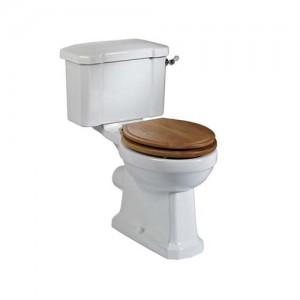 Tavistock Vitoria Soft Close WC Seat with chrome fittings - Oak [TS850NOSC]