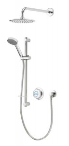 Aqualisa Quartz Classic Concealed Shower with Wall Mounted Fixed & Adjustable Heads - Standard [QZDA1BVDVFW20]