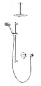 Aqualisa Quartz Classic Concealed Shower with Ceiling Mounted Fixed & Adjustable - Pumped [QZDA2BVDVFC20]