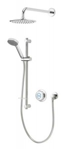 Aqualisa Quartz Classic Concealed Shower with Wall Mounted Fixed & Adjustable Heads - Pumped [QZDA2BVDVFW20]