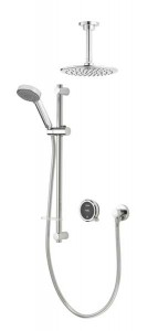 Aqualisa Quartz Touch Concealed Shower with Ceiling Mounted Fixed & Adjustable - Pumped [QZSTA2BVDVFC20]