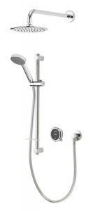 Aqualisa Quartz Touch Concealed Shower with Wall Mounted Fixed & Adjustable Heads - Pumped [QZSTA2BVDVFW20]
