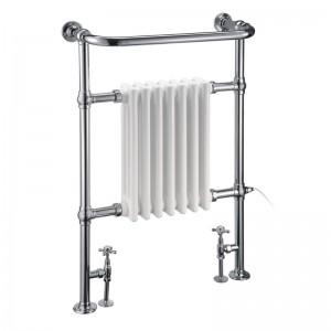Burlington R1CHR Trafalgar Towel Radiator 950x600mm Chrome/White
