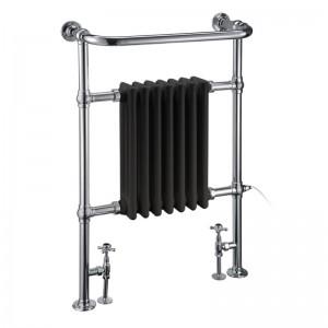 Burlington R1CHRBLA Trafalgar Towel Radiator 950x600mm Chrome/Black