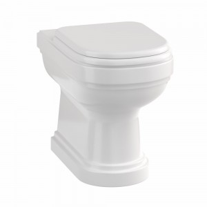 Riviera Soft Close WC seat - White with Chrome Hinges [RIV025]