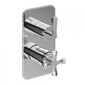 Burlington Riviera Shower Valves 1000 shower plate and handles - chrome [RIV2CHR]