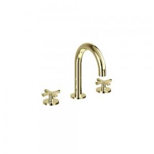 Riviera Brassware 3 hole deck basin mixer - chrome [RIV6CHR]