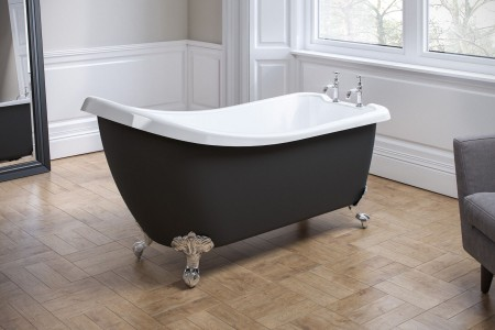 Royce Morgan RMF56 Chatsworth Freestanding Bath 1530 x 710mm Black