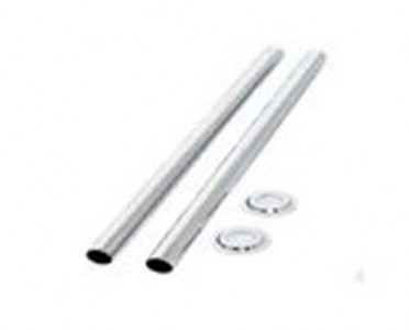 Redroom RRP1 Pipe & Shrouds - Chrome 300mm & 15mm Pipe & Rosettes