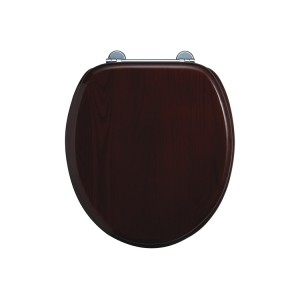 Burlington Seat and cover with chrome hinges and lift handle - Mahogany [S12]