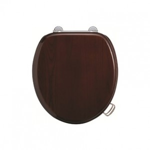 Burlington Soft close seat and cover with chrome hinges - Mahogany [S17]