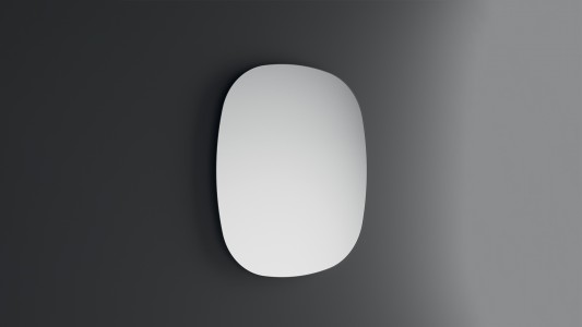 Inda Shaped Mirror with Polished Edge 75.5 x 42cm   [S810011]