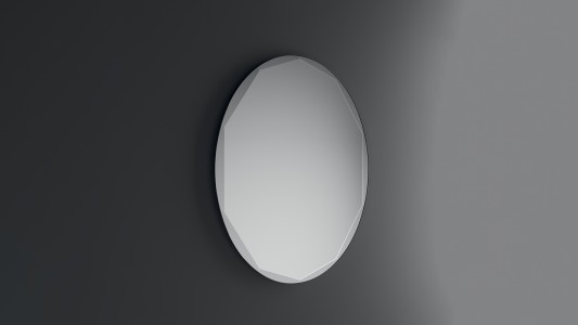 Inda Shaped Mirror with Polished Bevelled Edge 100 x 60cm   [S810014]