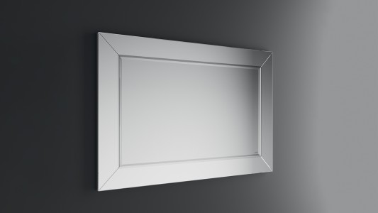 Inda Square Mirror with Polished Bevelled Edge 80h x 120cm   [S810016]