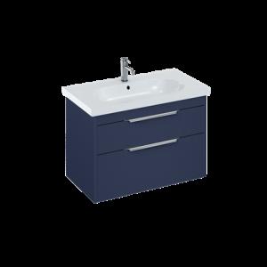 Britton MYSSPUFSG Floorstanding Vanity Unit for Cloakroom Basin - Grey