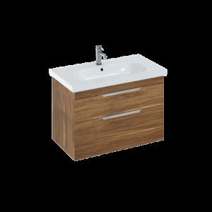 Britton MYSSPUFSW Floorstanding Vanity Unit for Cloakroom Basin - White