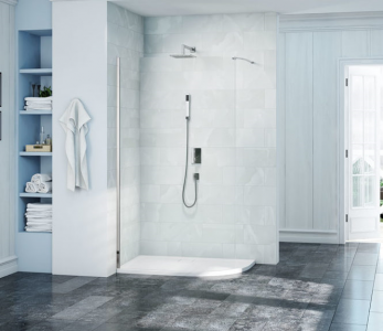 MERLYN S8CURV Series 8 Wetroom - Curved Showerwall without Tray