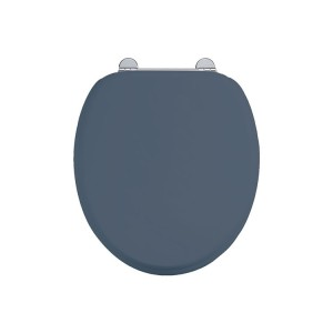 Burlington Soft close seat and cover with chrome hinges - Blue [S99]