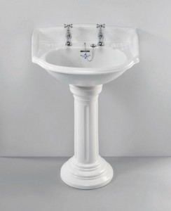Silverdale Belgravia/Victorian Pedestal Fluted Old English  VCPEDOEW