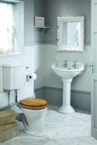 Silverdale Belgravia/Victorian Pedestal Unfluted Old English  VCPEDPLAOEW
