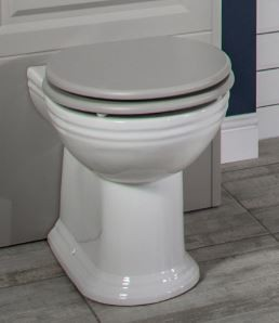 Silverdale Soft Close Seat for C-Coupled/BTW WC Grey with Chrome  VCSEACHHGRESC