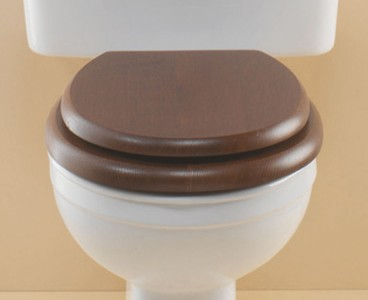 Silverdale Soft Close Seat for C-Coupled/BTW WC Mahogany with Chrome  VCSEACHHMAHSC