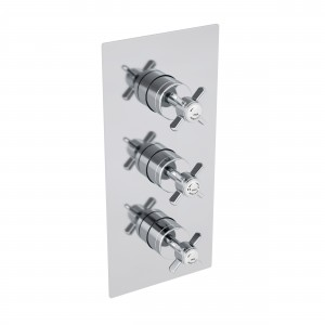 HERITAGE SDC05 Dawlish Recessed Thermostatic Shower Valve with Twin Stopcocks - Chrome