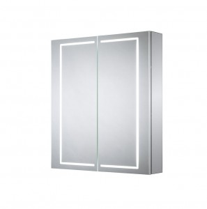 Sensio Sonnet Two Door Illuminated LED Mirror Cabinets LED Strip Mirror Cabinet. IP44 / 29W / 240V / Diffused LEDs / Zone 2  [SE30394C0]