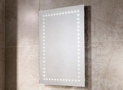 Sensio Bronte Illuminated LED Mirror Single Strip LED Mirror. IP44 / 4.2W / 240V / 60 LEDs / Zone 2 / Can be fitted horizontally or vertically.  [SE30576C01]