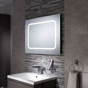 Sensio Grace 70 x 50cm Single Diffused LED Mirror. IP44 / 5.6W / 240V / 80 LEDs / Zone 2 / Can be fitted horizontally or vertically.  [SE30676C0]