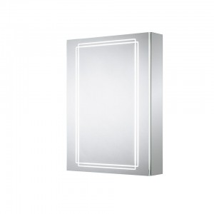 Sensio Harlow One Door Illuminated LED Mirror Cabinets LED Strip Mirror Cabinet with 2 Shelves. IP44 / 24.7W / 240V / LED Strip / Zone 2  [SE31194C0]