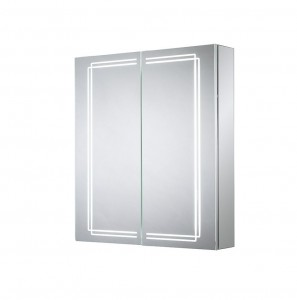 Sensio Harlow Two Door Illuminated LED Mirror Cabinets LED Strip Mirror Cabinet with 2 Shelves. IP44 / 29W / 240V / LED Strip / Zone 2  [SE31394C0]