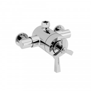 HERITAGE SGRDCT03 Gracechurch Exposed Shower Valve with Top Outlet Connection - Chrome
