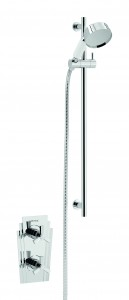HERITAGE SGRDDUAL01 Gracechurch Recessed Shower with Deluxe Flexible Riser Kit - Chrome