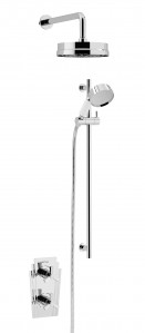 HERITAGE SGRDDUAL03 Gracechurch Recessed Shower with Deluxe Fixed Head & Flexible Riser Kit - Chrome