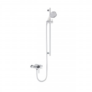 HERITAGE SGRDDUAL05 Gracechurch Exposed Shower with Deluxe Flexible Riser Kit - Chrome