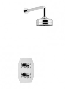 HERITAGE SHDDUAL03 Hartlebury Recessed Shower with Premium Fixed Head Kit - Chrome