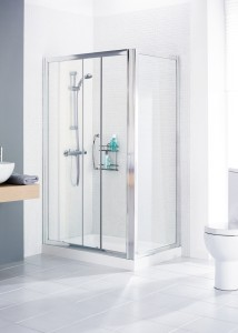 Lakes Classic - Framed Side Panels 700 x 1850mm - Polished Silver  LK1SP070S