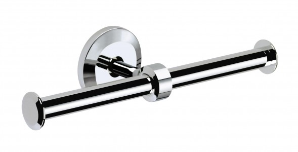 BRISTAN Solo Double Toilet Roll Holder Chrome Plated