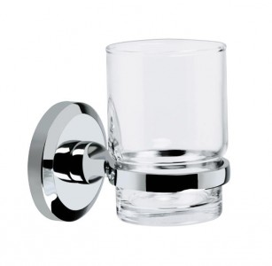 BRISTAN Solo Toothbrush & Tumbler Holder Chrome Plated
